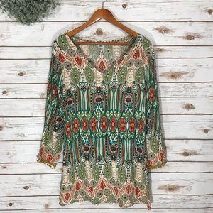 Dresses & Skirts - GREEN POM POM ACCENT DRESS SIZE S/M